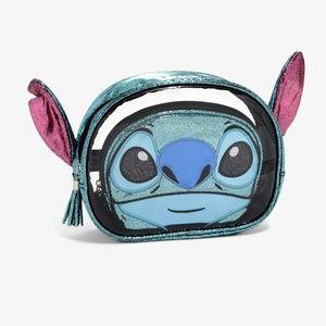 Disney Loungefly Stitch Figural Cosmetic Bag Set